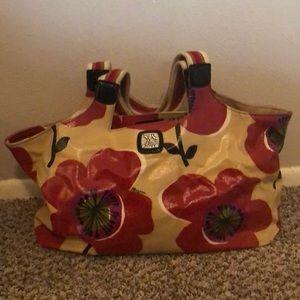 Brighton poppy tote handbag